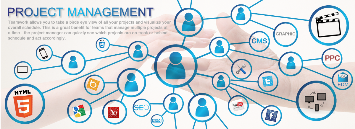 Service management and supervision of the project online for Master project management online